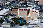 Aerial view of the Mirage Hotel on the Strip, Las Vegas, Nevada, USA