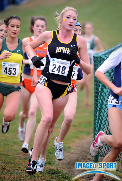 Nov 24, 2008; Terre Haute, IN, USA; Racheal Marchand of Iowa was fifth in the womens race in 19:54 in the NCAA cross country championships at the LaVern Gibson cross country course.