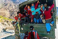 School children; Ladakh, Jammu and Kashmir State, India.