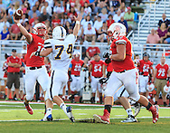 August 25, 2016: Norwalk Truckers Jordan Weinert (74) during the Thursday Night Season Opener game between the Norwalk Truckers vs Port Clinton Redskins at the Tru-Lay Stadium in Port Clinton, Ohio. FINAL: Norwalk 17 vs. Port Clinton 28