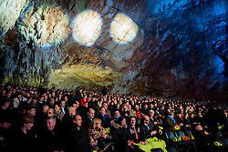Spectators during FIBA Europe Eurobasket 2013 draw ceremony on November 18, 2012 in Postojna cave, Postojna, Slovenia. (Photo By Vid Ponikvar / Sportida)