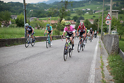 Leah Kirchmann (CAN) of Liv-Plantur Cycling Team rides up on the day's main climb during the Giro Rosa 2016 - Stage 1. A 104 km road race from Gaiarine to San Fior, Italy on July 2nd 2016.
