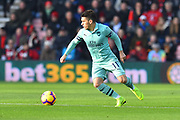 Lucas Torreira (11) of Arsenal during the Premier League match between Bournemouth and Arsenal at the Vitality Stadium, Bournemouth, England on 25 November 2018.