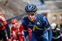 Leading group with GATE Aaron of Aqua Blue Sport during the UCI WorldTour 103rd Liège-Bastogne-Liège from Liège to Ans with 258 km of racing at Cote de Saint-Roch, Belgium, 23 April 2017. Photo by Pim Nijland / PelotonPhotos.com   All photos usage must carry mandatory copyright credit (Peloton Photos   Pim Nijland)