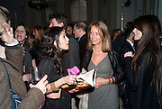 FATIMA BHUTTO; SABRINA GUINNESS, Henry Porter hosts a launch for Songs of Blood and Sword by Fatima Bhutto. The Artesian at the Langham London. Portland Place. 15 April 2010.  *** Local Caption *** -DO NOT ARCHIVE-© Copyright Photograph by Dafydd Jones. 248 Clapham Rd. London SW9 0PZ. Tel 0207 820 0771. www.dafjones.com.<br /> FATIMA BHUTTO; SABRINA GUINNESS, Henry Porter hosts a launch for Songs of Blood and Sword by Fatima Bhutto. The Artesian at the Langham London. Portland Place. 15 April 2010.