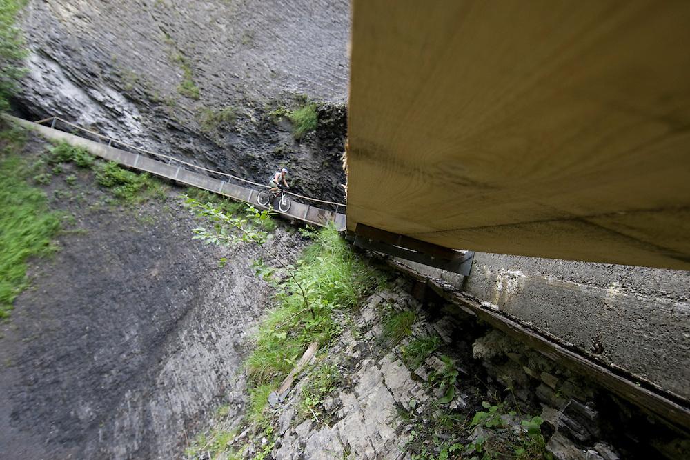 René Wildhaber on his supertrail from Cran-Montana to Saint-Leonard (Wallis, Switzerland)