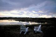 Chairs near lake  Hesperus, Colorado