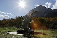 Yoga with Daiana at Josito climbing camp, Geyikbayiri, Antalya, Turkey.