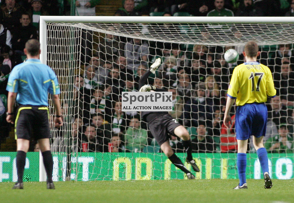 Celtic take the lead in this evenings  Clydesdale Bank Scottish Premier League game between Celtic FC Dunfermline Athletic FC...At Parkhead Stadium, Glasgow.