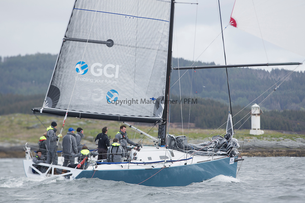 The third days racing at the  Silvers Marine Scottish Series 2015, organised by the  Clyde Cruising Club<br /> Based at Tarbert,  Loch Fyne from 22rd-24th May 2015<br /> GBR7737R, Aurora, Rod Stuart / A Ram, CCC, Corby 37<br /> <br /> <br /> Credit : Marc Turner / CCC<br /> For further information contact<br /> Iain Hurrel<br /> Mobile : 07766 116451<br /> Email : info@marine.blast.com<br /> <br /> For a full list of Silvers Marine Scottish Series sponsors visit http://www.clyde.org/scottish-series/sponsors/