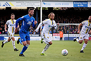Peterborough midfielder Siriki Dembélé (10) gets in a shot during the EFL Sky Bet League 1 match between Peterborough United and Burton Albion at London Road, Peterborough, England on 4 May 2019.