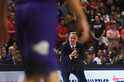 LUBBOCK, TX - MARCH 3: Head coach Jamie Dixon of the TCU Horned Frogs encourages his team from the sidelines during the game against the Texas Tech Red Raiders on March 3, 2018 at United Supermarket Arena in Lubbock, Texas. Texas Tech defeated TCU 79-75. Texas Tech defeated TCU 79-75. (Photo by John Weast/Getty Images) *** Local Caption *** Jamie Dixon