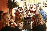 Lyon, France..Cafe de Geneve in Lyon's chic 6th arrondissement..