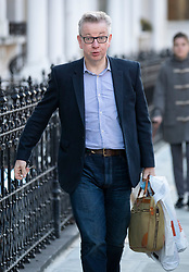 © Licensed to London News Pictures. 11/03/2019. London, UK. Environment Secretary Michael Gove is seen near his home at the start of a week of Brexit withdrawal votes. Photo credit: Peter Macdiarmid/LNP