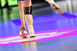 The ball during the Women's european handball chanmpionship preliminary round, Slovenia vs France. Nancy, Fance -02/12/2018//POLEMILE_01POL20181202NAN007/Credit:POL EMILE / SIPA/SIPA/1812021731