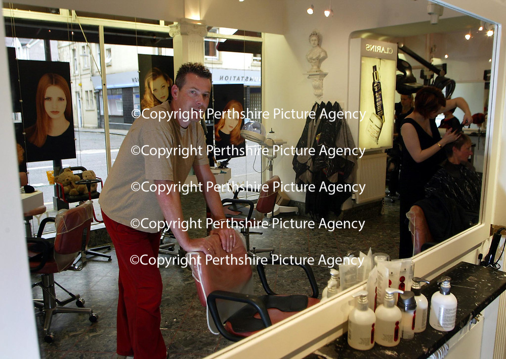 Alistair Taylor, who runs the Charlie T hair &amp; beauty salon in Perth. He is pictured in the salon<br />