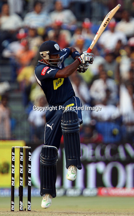 Deccan Chargers Batsman T. Suman Hit The Shot Against Delhi Daredevils During The Indian Premier League - 15th match Twenty20 match 2009/10 season Played at Barabati Stadium, Cuttack 21 March 2010 - day/night (20-over match)