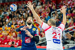 Nikola Karabatic (FRA) during handball match between National teams of France and Spain in Half Final match of Men's EHF EURO 2018, on January 26, 2018 in Arena Zagreb, Zagreb, Croatia. Photo by Ziga Zupan / Sportida