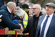 Derby owner Mel Morris with Derby fans during the The FA Cup fourth round match between Accrington Stanley and Derby County at the Fraser Eagle Stadium, Accrington, England on 26 January 2019.