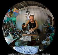Silver craftsman at Baan Pho Naan Liam