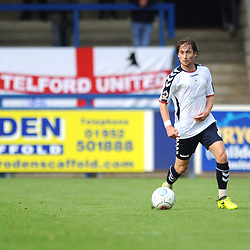 TELFORD COPYRIGHT MIKE SHERIDAN 15/9/2018 - James McQuilkin of AFC Telford during the Vanarama Conference North fixture between AFC Telford United and Stockport County.