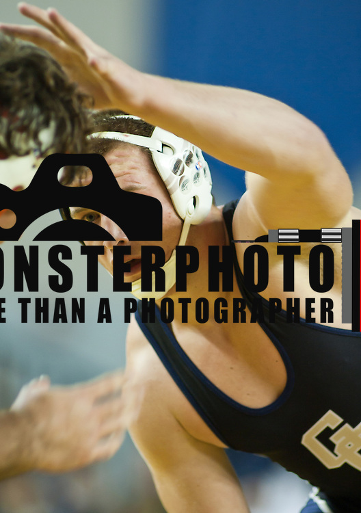 12/18/11 Newark DE: Kyle Snyder of Good Counsel looks to grab John Rizzo of Richland during the Beast of the East 220 pound Finals Sunday Dec. 18, 2011 at The Bob Carpenter Center in Newark Delaware...Special to The News Journal/SAQUAN STIMPSON