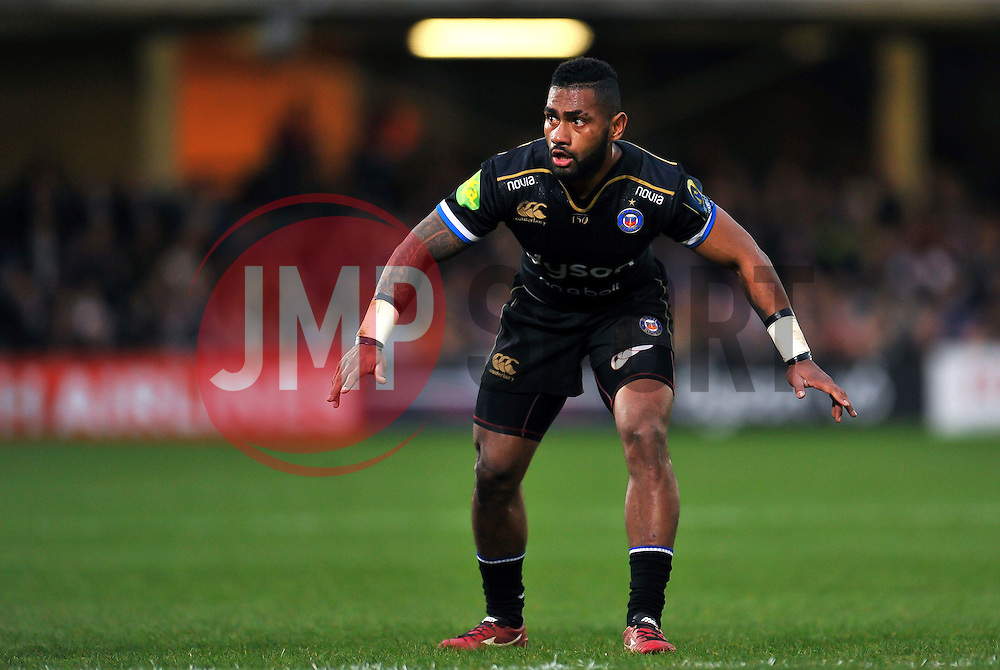 Niko Matawalu of Bath Rugby - Mandatory byline: Patrick Khachfe/JMP - 07966 386802 - 19/12/2015 - RUGBY UNION - The Recreation Ground - Bath, England - Bath Rugby v Wasps - European Rugby Champions Cup.
