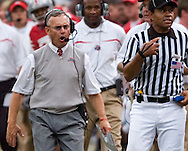 MORNING JOURNAL/DAVID RICHARD.Jim Tressel disagrees with a call against Penn State.
