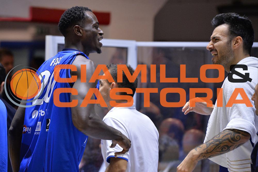 Fall Abdel, Sacchetti Brian<br /> Happycasa Brindisi - Germani Basket Brescia<br /> Legabasket serieA2017-2018<br /> Brindisi , 29/10/2017<br /> Foto Ciamillo-Castoria/M.Longo