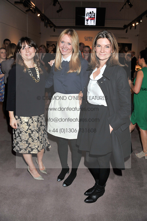 Left to right, ALEXANDRA SHULMAN, KATE REARDON and NATALIE MASSENET at a party to celebrate the publication of Can We Still Be Friends by Alexandra Shulman held at Sotheby's, 34-35 New Bond street, London on 28th March 2012.
