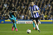 Sheffield Wednesday defender Daniel Pudil looks for a pass during the Capital One Cup Fourth Round match between Sheffield Wednesday and Arsenal at Hillsborough, Sheffield, England on 27 October 2015. Photo by Aaron Lupton.