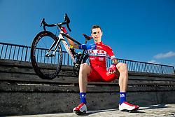 Radoslav Rogina of Cycling Team Adria Mobil poses for a portrait session ahead of the 2014 road season on February 25, 2014 in Cesca vas at Novo mesto, Slovenia. Photo by Vid Ponikvar / Sportida