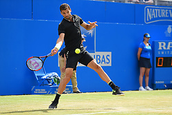 June 23, 2017 - London, United Kingdom - Grigor Dimitrov of Bulgaria plays the quarter finals of AEGON Championships at Queen's Club, London, on June 23, 2017. (Credit Image: © Alberto Pezzali/NurPhoto via ZUMA Press)