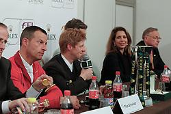 Schwizer PIus (SUI), Ehning Markus (GER),  Beerbaum Ludger (GER) and HRH Princess Haya (JOR)<br /> Rolex FEI World Cup Final - Geneve 2010<br /> © Dirk Caremans
