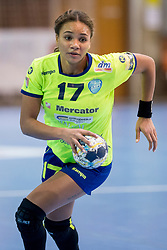 Elizabeth Omoregie of RK Krim Mercator during handball match between RK Krim Mercator and FC Midtjylland in Main Round of Women's EHF Champions League 2017/18 , on January 27, 2018 in Sports hall Kodeljevo, Ljubljana, Slovenia. Photo by Urban Urbanc / Sportida
