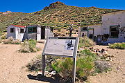 Aguereberry Camp at the Eureka Mine, Death Valley National Park. California
