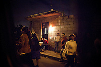 Women walk home after dark, in Mixco, Guatemala, on Saturday, Nov. 5, 2011. <br /> <br /> According to the National Civil Police, 695 women were killed in 2010 and 631 in 2011. The 36-years of civil war left a brutal legacy of violence against women on the social fabric of this indigenous country. While today there is no official war, Guatemalan women live in a culture of violence that includes gangs, drug trafficking, machismo and domestic abuse.<br /> <br /> Mixco is a transit point for drug traffickers, including the ruthless Los Zetas Mexican drug cartel. In the past three years, Guatemala has seen a rise in Mexico drug gangs because of the major anti-drug operations launched by Mexican President Felipe Calderon, and because of its porous borders, drug gangs can easily transit drugs from Colombia through Mexico and into the United States.