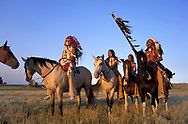 Crow Indian Horsemen,<br /> Montana, USA