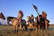Crow Indian Horsemen,<br /> Montana, USA