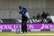 Alex Hales of England plays and misses during the 3rd One Day International match at Old Trafford Cricket Ground, Stretford<br /> Picture by Andy Kearns/Focus Images Ltd 0781 864 4264<br /> 08/09/2015