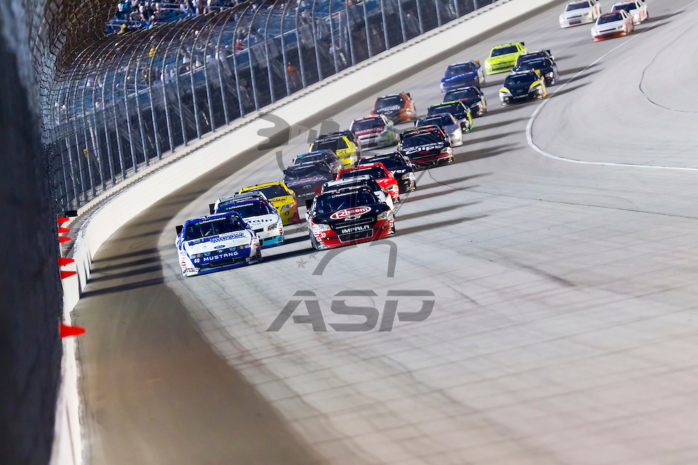 Joliet, IL - June 04, 2011:  The NASCAR Nationwide teams take to the track for the STP 300 race in Joliet, IL.