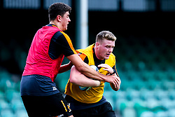 Niall Annett and James Scott of Worcester Warriors during preseason training ahead of the 2019/20 Gallagher Premiership Rugby season - Mandatory by-line: Robbie Stephenson/JMP - 06/08/2019 - RUGBY - Sixways Stadium - Worcester, England - Worcester Warriors Preseason Training 2019