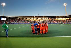 THE HAGUE - Rabobank Hockey World Cup 2014 - 2014-06-10 - MEN - NEW ZEALAND - THE NETHERLANDS -  nabespreking nederlands team na teleurstellende 1-1.<br /> Copyright: Willem Vernes