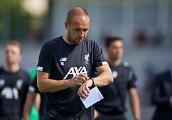 NAPLES, ITALY - Tuesday, September 17, 2019: Liverpool's manager Barry Lewtas during the UEFA Youth League Group E match between SSC Napoli and Liverpool FC at Stadio Comunale di Frattamaggiore. (Pic by David Rawcliffe/Propaganda)