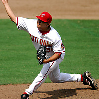 18 July 2007:  Washington Nationals pitcher Chad Cordero (32) pitches in the 9th inning earning his 17th save of the season against the Houston Astros.  The Nationals defeated the Astros 7-6 at RFK Stadium in Washington, D.C.  ****For Editorial Use Only****