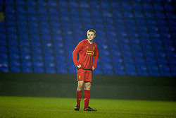 READING, ENGLAND - Wednesday, March 12, 2014: Liverpool's Jordan Rossiter looks dejected after losing 5-4 on penalties after a 4-4 draw against Reading during the FA Youth Cup Quarter-Final match at the Madejski Stadium. (Pic by David Rawcliffe/Propaganda)