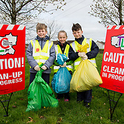 04.04.2017         <br /> St. Brigids National School, Singland Limerick were off the mark early for TLC3. <br /> Pictured during the clean up were, Ilja Vepruks Straume, Maddison O'Neill and Lee Hughes. Picture: Alan Place
