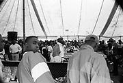 Hip Hop music tent at the Moss Side Carnival, Alexandra Park, Manchester 1989