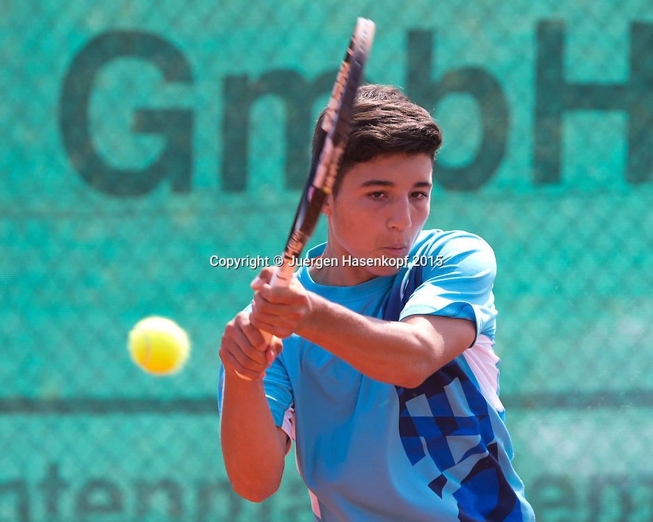 Mariano-Alberto Hasenkopf (GER), BS16 Tennis Europe-M&uuml;nchen Junior Open<br /> <br /> Tennis - Audi GW plus Zentrum M&uuml;nchen Junior Open 2015 - ITF Junior Tour -  SC Eching - Eching - Bayern - Germany  - 10 August 2015. <br /> &copy; Juergen Hasenkopf