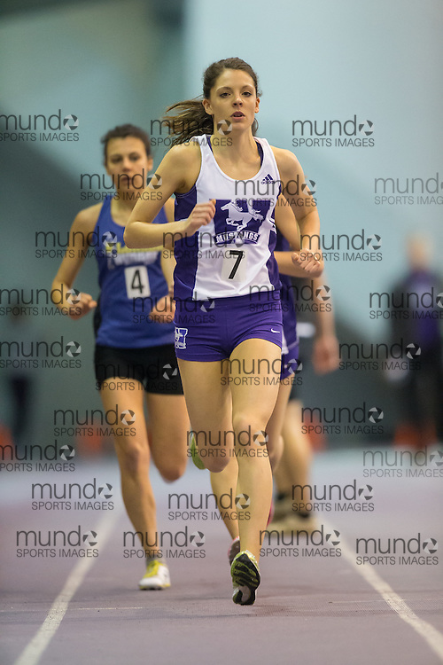 runs at the 2014 Don Wright meet in London Ontario, Saturday,  January 18, 2014.<br /> Mundo Sport Images/ Geoff Robins